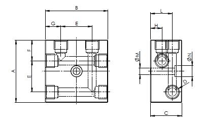 Распределительные блоки T-двухлинейные