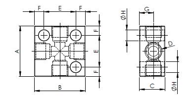 Распределительные блоки X однолинейные