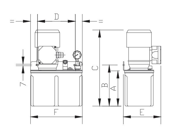 Масляный насос MPT-200 габариты